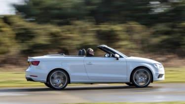 Audi A3 Cabriolet white side profile
