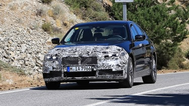 BMW 5-series facelift - front