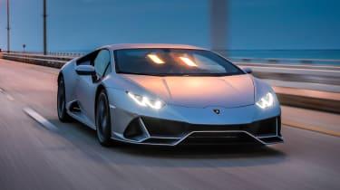Lamborghini Huracan EVO silver - dusk
