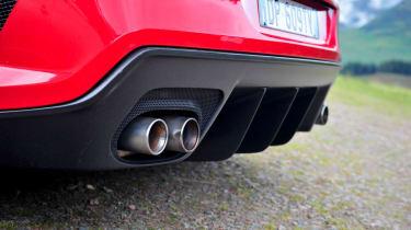 Ferrari 599 GTO exhausts