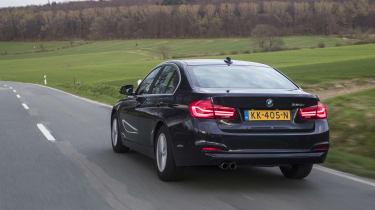 BMW 320i rear three quarters