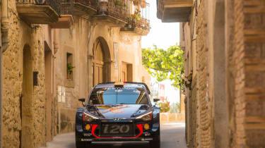 WRC Rally Catalunya - i20 front