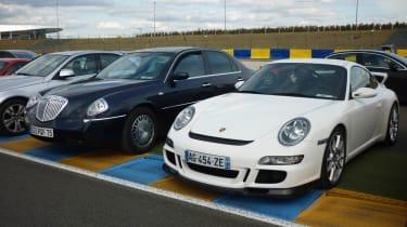Lancia Thesis and Porsche 911 GT3