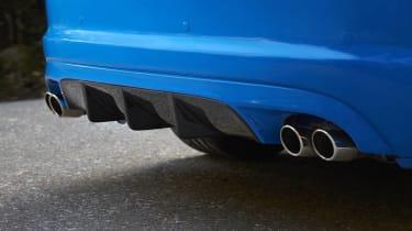 Jaguar XFR-S rear diffuser quad exhaust pipes