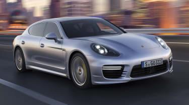 New Porsche Panamera Turbo front silver