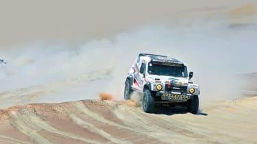 Race2Recovery Land Rover on the Dakar Rally