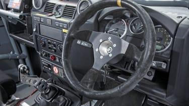 Land Rover Defender Challenge steering wheel