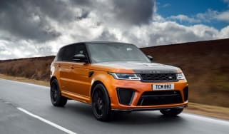 Range Rover Sport SVR front three quarters