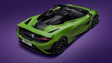 McLaren 765LT Spider – rear top