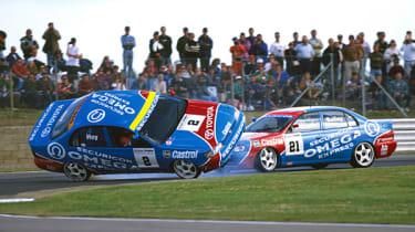 Silverstone 1993: Toyota teammates swap panels