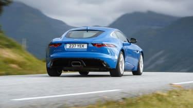 Jaguar F-type four-cylinder rear action