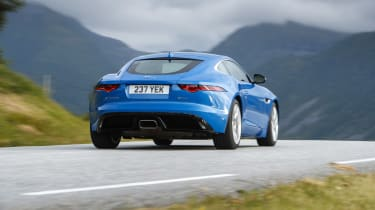 Jaguar F-type four-cylinder rear action
