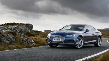Audi A5 coupe blue - front static