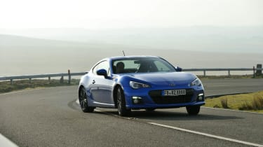 Video Subaru BRZ coupe sideways drift skid