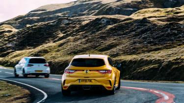 VW GTI TCR vs Megane RS Trophy - rears