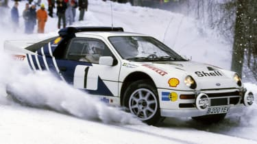 RS200 rally car