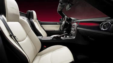 Mazda MX-5 25th Anniversary white leather interior