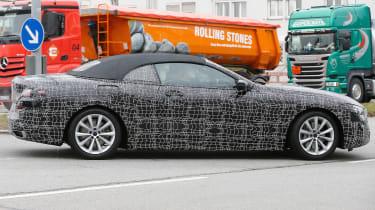BMW 8-series Cabriolet spied - rear quarter