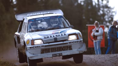 Peugoet 205 T16 rally car