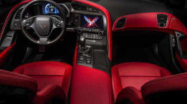 Corvette Stingray interior red leather
