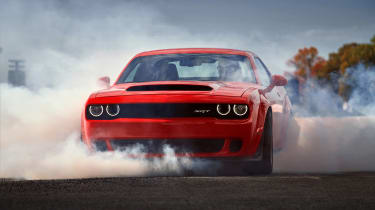 Dodge Demon burnout