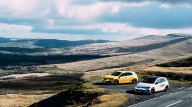 VW GTI TCR vs Megane RS Trophy - static