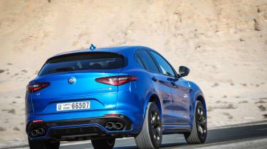 Alfa Romeo Stelvio QV drive - rear quarter