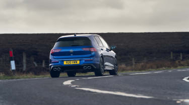 Volkswagen Golf R 2021 review - rear cornering