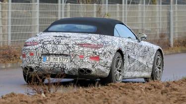 Mercedes SL spy 2021 - rear 1