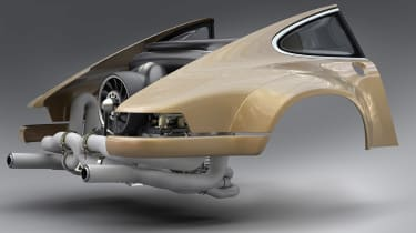 bodywork Singer - Williams collab - engine shot