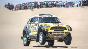 Mini jumping on the Dakar Rally