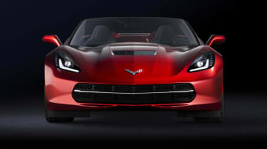Corvette Stingray red convertible