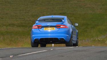Jaguar XFR-S blue rear