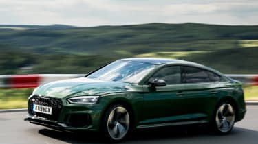 Audi RS5 Sportback review - front quarter]
