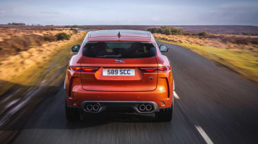 Jaguar F Pace SVR 2021 review - tail