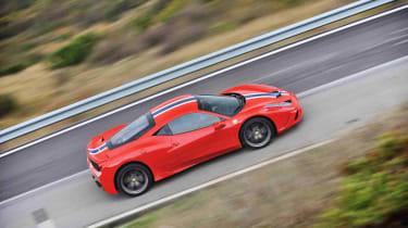Ferrari 458 Speciale side profile