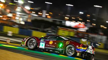 Le Mans 2017 - Ferrari night cornering