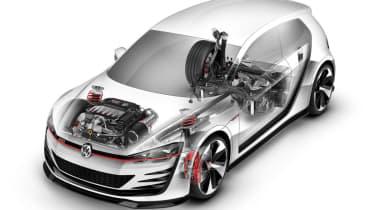 496bhp VW Golf Design Vision GTI cutaway