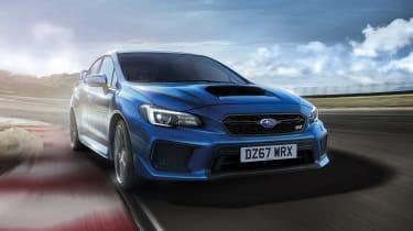Subaru celebrates final WRX STI front