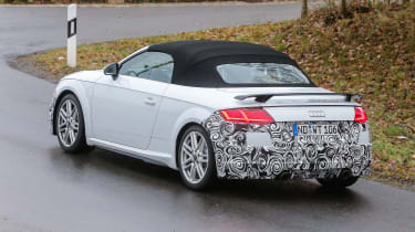 Audi TT spy - roadster rear quatter