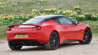 Lotus Evora S Sports Racer red and black rear