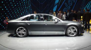 Audi S8 Frankfurt motor show side profile