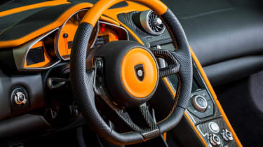 Gemballa GT Spider: tuned McLaren 12C steering wheel interior dashboard