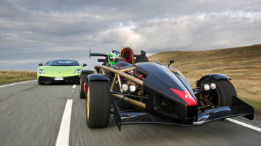 Ariel Atom V8 v Lamborghini Gallardo Superleggera