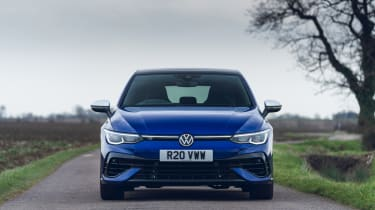 Volkswagen Golf R 2021 review - nose static