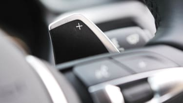2013 BMW 330d M Sport gearshift paddle