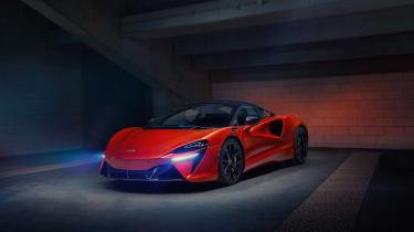 McLaren Artura revealed - orange static quarter