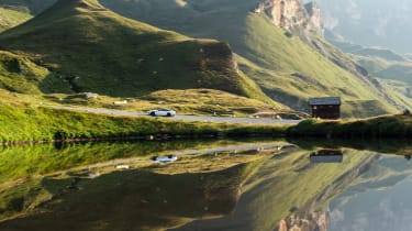 Aston Martin DBS Superleggera drive - reflection