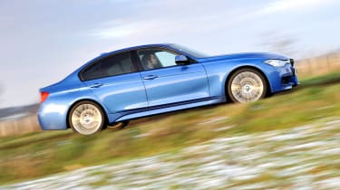 2013 BMW 330d M Sport side profile