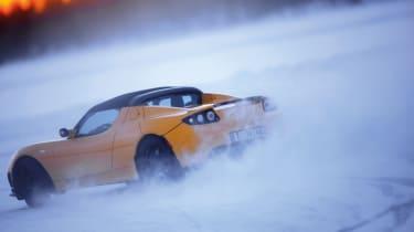 Tesla on Ice driving